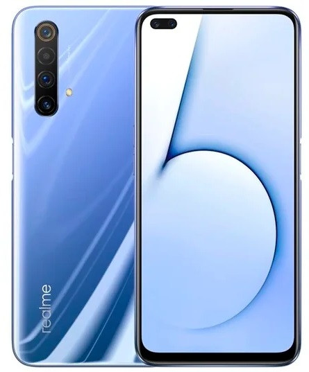 "Смартфон Oppo Realme X50 6/64Gb Polar White, 64+12+8+8/16+8Мп, 2sim, 6.57"" IPS, 4200mAh, 4G (LTE), 8 ядер"
