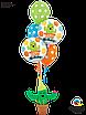 """Q 18"""" Birthday Party Cactus Foil Balloon - Pkg . Шар фольгированный Кактус С Днем Рождения, В УП, фото 2"""