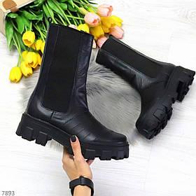 Демисезонные ботиночки с натуральной кожи 7893
