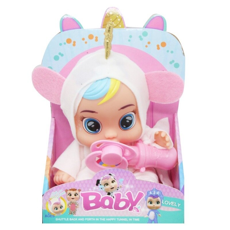 "Кукла пупс ""Cry Baby: Magic Tears Dreamy Unicorn"" Плачущий младенец Единорог 17см"