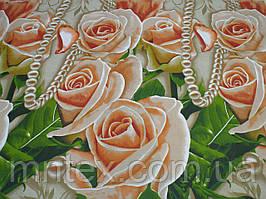 Ткань для пошива постельного белья бязь голд Чайные розы