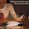 Універсальна акумуляторна LED лампа на кліпсі Baseus Comfort Reading Mini Clip Lamp DGRAD-0G (Темно-сіра), фото 2