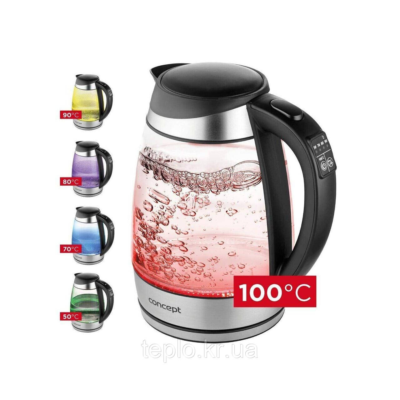 Электрический чайник стеклянный Concept RK4120