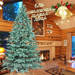 Ель премиум голубая искусственная литая на новый год Ковалевская