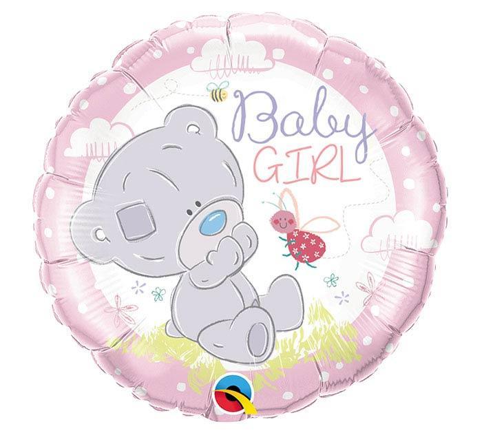 """Q18"""" Tiny Tatty Teddy Baby Girl Foil Balloon - Pkg. Шар фольгированный для выписки из роддома Девочка, В УП"""