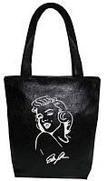"""Женская сумка - """"Мерлин Монро"""" Б36 - черная"""