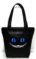 """Женская сумка - """"Чеширский кот"""" Б216 - черная, фото 1"""