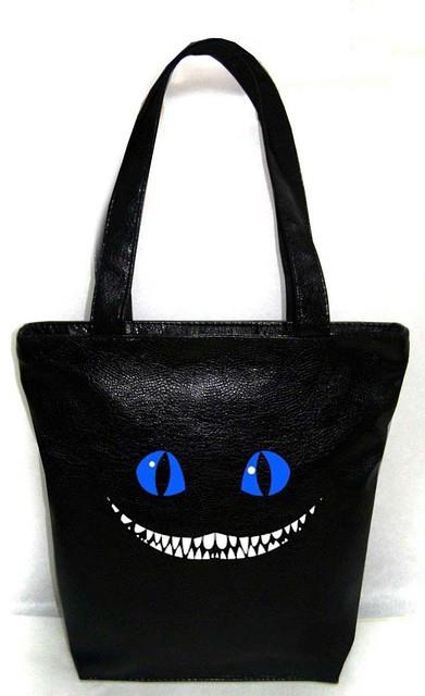 """Женская сумка - """"Чеширский кот"""" Б216 - черная"""