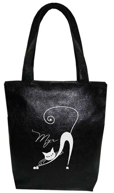 "Женская сумка - ""Мур..."" Б68 - черная"