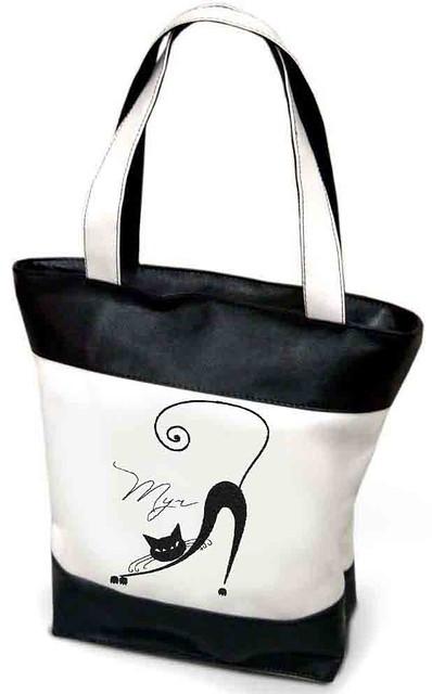 """Женская сумка - """"Мур..."""" (комбинированные ткани) К68"""