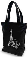 "Женская сумка - ""Париж"" Б21 - черная, фото 1"
