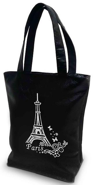 "Женская сумка - ""Париж"" Б21 - черная"