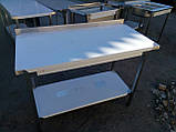 Стол с бортом и полкой  800х600х850, фото 4