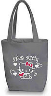"Женская сумка - ""Hello Kitty с сердечками"" Б02 - серая"