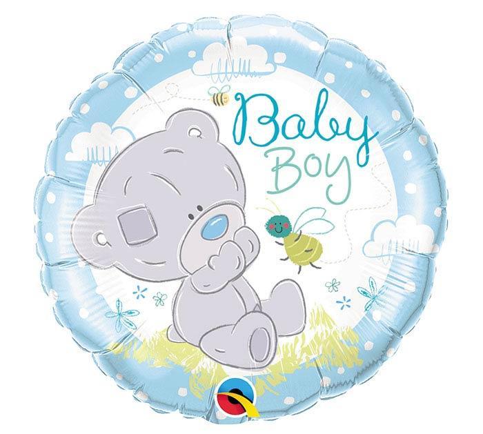 """Q18"""" Tiny Tatty Teddy Baby Boy Foil Balloon - Pkg. Шар фольгированный для выписки из роддома Мальчика, В УП"""