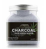 Скраб для лица Pretty Cowry Charcoal Face&Body Scrub 350 мл