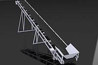 Ленточный конвейер шириной ленты 800 мм, длинной 12 м 5.5КвТ