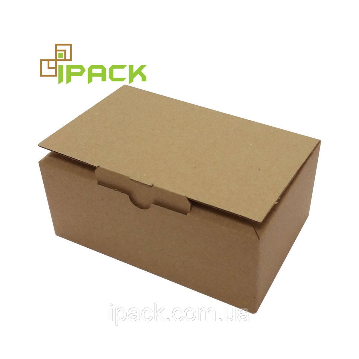 Коробка картонна самозбірна, 145*95*60, мм, бура, крафт, мікрогофрокартон
