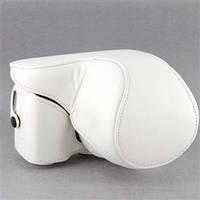 Защитный футляр - чехол для фотоаппаратов SONY NEX-3N, NEX-5, NEX-5C, NEX-5T, NEX-5R, A5000, A5100 - белый