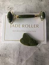 Набор Jade Roller роллер + гуаша из нефриту + гуаша из нефриту
