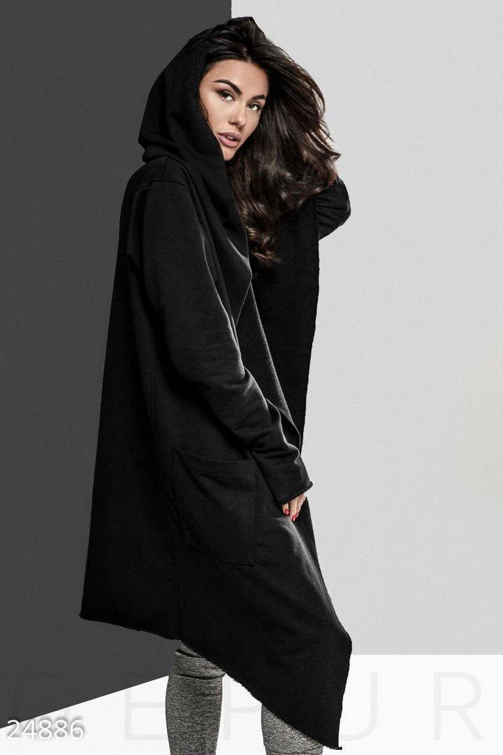 Женская мантия с капюшоном и карманами