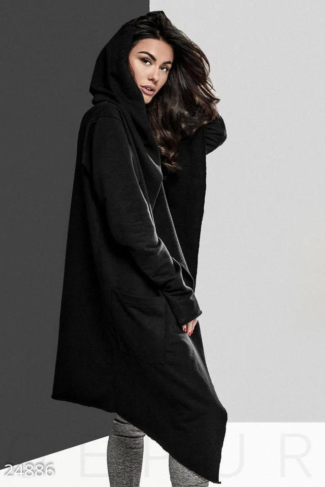 женское мантия с капюшоном и карманами