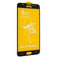 Стекло 6D Premium Samsung G611F Galaxy J7 Prime 2 2018 (Черный)