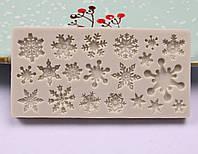 Молд силиконовый Снежинки