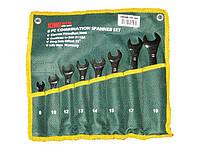 Набор ключей рожково-накидных 8шт KING STD KSR-1-008 cумка (наб.)