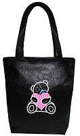 """Женская сумка - """"Мишка Teddy"""" Б12 - черная"""