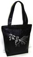 """Женская сумка - """"Сакура"""" Б49- черная, фото 1"""