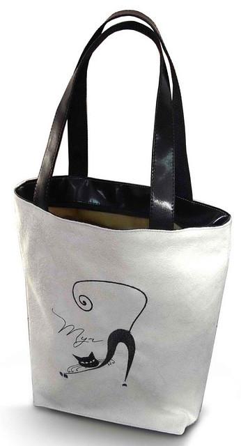 """Женская сумка - """"Мур...""""Б68 - белая"""