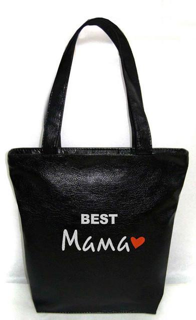 """Женская сумка - """"Best Мама"""" Б85 - черная"""