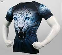 Компрессионная футболка рашгард Take Five Leopard
