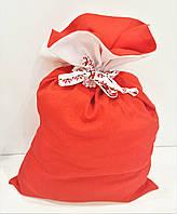 Мешок для подарков большой льняной 47 х 32 см