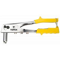 Заклепочник Topex для заклепок алюминиевых 2.4, 3.2, 4.0, 4.8 мм (43E707)