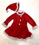Костюм карнавальный Санта девочка 122-128 см б/у, фото 2