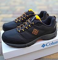 Мужские зимние кроссовки Columb1a Firecamp черные с серым теплые на флисе. Живое фото. Топ реплика, фото 1