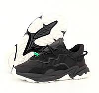 Мужские кроссовки Adidas Ozweego W Black осен-весна рефлективные 36-45р. Живое фото. Реплика, фото 1