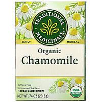 Traditional Medicinals, Травяной чай, органическая ромашка, без кофеина, 16 чайных пакетиков