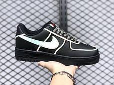 """Кроссовки Nike Air Force 1 Low 3M """"Черные"""", фото 2"""