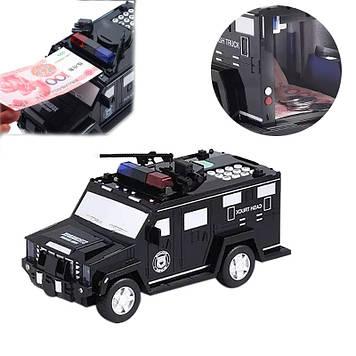 Копилка автомобиль с кодовым замком для бумажных денег и монет Money Box Toy Машинка копилка