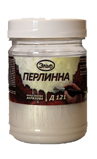 Акриловая декоративная краска Д-121 Эльф 0.1л (жемчужная)