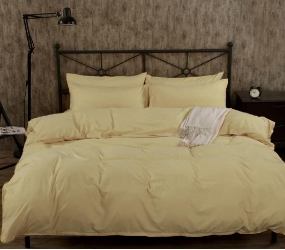 Бязевый однотонный комплект постельного белья GoodSon Mustard 08