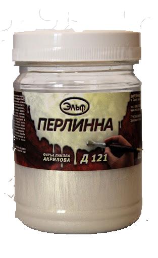 Акриловая декоративная краска Д-121 Эльф 0.6л (жемчужная)