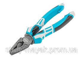 Плоскогубцы комбинированные 180 мм, трехкомпонентные рукоятки, GROSS Немецкое качество!