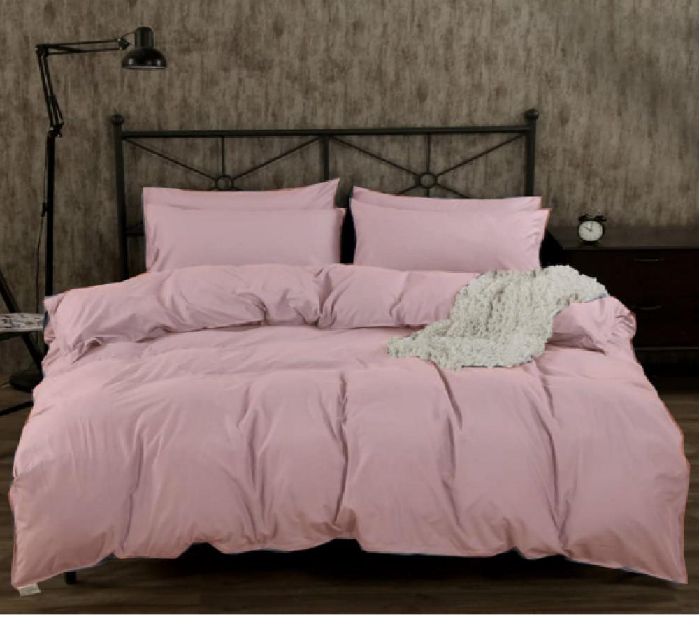 Однотонное розовое постельное белье GoodSon Pink, бязь