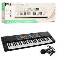 Детский большой синтезатор с микрофоном 54 клавиши караоке микрофон запись есть режим пианино