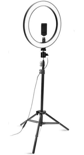 Светодиодная LED лампа с пультом ДУ Ring Fill Light YQ-320A + Студийный штатив Stend 210 см