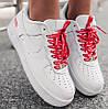 """Женские кроссовки Nike Air Force 1 """"07 Supreme"""" белые осень-весна низкие белые. Живое фото. Реплика"""